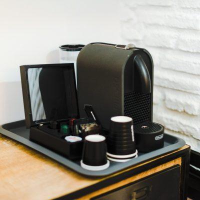 Café y té de cortesía en todas las habitaciones.